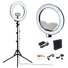 ring light for video camera studio dimmable 18 55w 5500k led camera mirror video ring light kit
