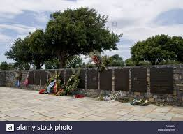 memorial wreaths left at the german war cemetery in maleme crete
