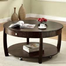 small table with shelves round coffee table with storage furniture living room cool wood