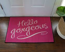 Commercial Doormat Hello Gorgeous Pink Door Mat Floormatshop Com Commercial Floor