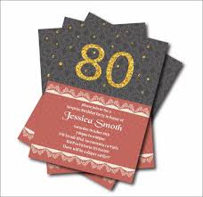 30th Birthday Invitation Cards Aliexpress Com Buy 20 Pcs Personalized 80th Birthday Invitations
