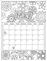 abstract coloring 2017 calendar free printable and pages