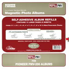 magnetic photo album acid free pioneer photo albums refill pages for the pmv 206 photo pmv b h