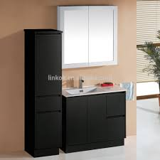 Freestanding Bathroom Furniture High Gloss Black Finish Bathroom Vanity High Gloss Black Finish