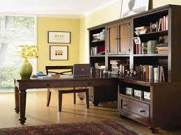 contemporary home office with den decorating ideas added brown