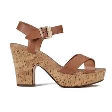 dune women u0027s iyla leather platform heeled sandals tan free uk