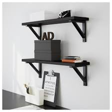 Wall Shelves Ikea by Ekby Järpen Ekby Valter Wall Shelf Black Brown Black Ikea