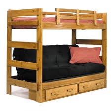 Wooden Bunk Beds With Two Drawer And Stairs Are Also Black Sheet - Wooden bunk beds with drawers