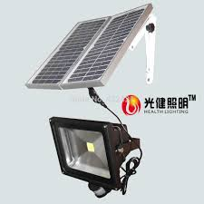 50w solar pir sensor light solar panel 14w led motion sensor