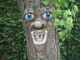 garden ornaments sculptures statues decorations tree faces