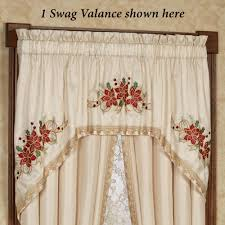 poinsettia palace holiday swag window treatment