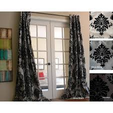 Black And Gray Curtains Faux Silk Grey And Black Grommet Top Curtain Panel
