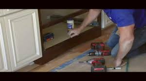 Installing Base Cabinets On Uneven Floor How To Install A Valance Skirt On Your Cabinets Youtube