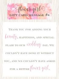 wedding gift message flower girl gift card message ideas pearls