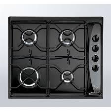 plaque cuisine gaz whirlpool akm260 noir table de cuisson gaz 4 foyers 7300w l58xp50cm