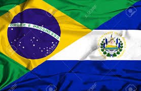 Flag El Salvador Waving Flag Of El Salvador And Brazil Stock Photo Picture And