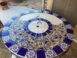 Mosaic Patio Tables Mosaic Tile Patio Table Hometalk