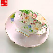 vintage tea set 220ml bone china vintage tea cup set craft tea cup with
