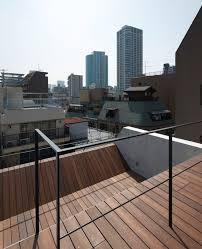 rooftop deck metal modern rooftop deck design at ravine house
