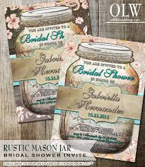 jar bridal shower invitations rustic jar bridal shower invitation jar invite