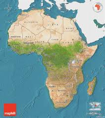 africa map color satellite map of africa single color outside