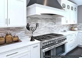 White Kitchen Cabinets White Appliances Gray And White Kitchen With Black Appliances Grey Tile Splashback