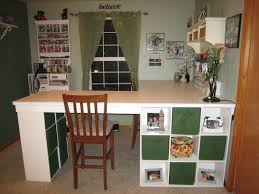 counter height craft table craft desk with storage ikea light green wall paint color