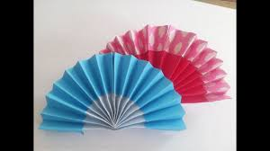 how to make a paper fan how to make hand fan with paper origami hand fan paper youtube