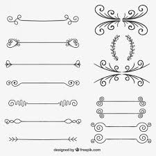 sketchy ornaments vector free