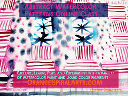 brand new online class abstract watercolor patterns orange