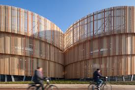 dutch parking garage receives lively unitized screen cladding