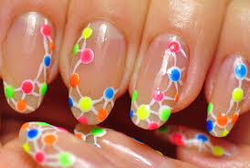 nail art neon design abstraction youtube