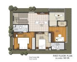 East Facing Plans 3 Bhk Duplex Villas 1 Bhk Duplex House Plans