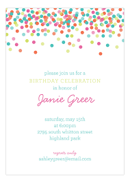 polka dot invitations falling confetti pastel colors invitation polka dot invitations