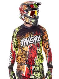 mens motocross jersey oneal black neon 2018 element vandal mx jersey oneal