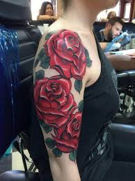 3 roses upper arm tattoo tattoo tattooed tattoos flowers