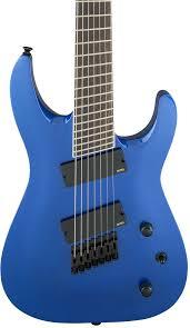 fanned fret 7 string jackson slat7 ff fanned fret 7 string soloist metallic blue