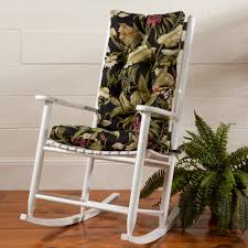 indoor outdoor rocker cushion set sturbridge yankee workshop
