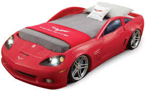 funky kids car designed bed that can be applied on the white