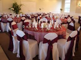 wedding reception chair covers chair covers of lansing doves in flight decorating