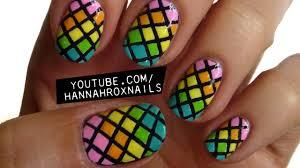 rainbow fishnet nail art youtube