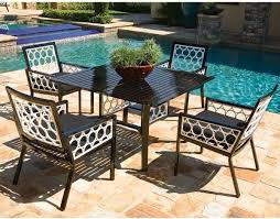 Aluminum Patio Dining Set Aluminum Outdoor Dining Table And Chair Set Modern Patio