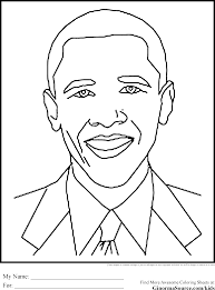 obama coloring page smiling barack obama coloring page free