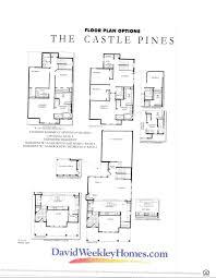 Floor Plan Castle by David Weekley U0027s The Castle Pines Floor Plan Stapleton