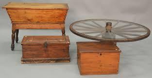 Wagon Wheel Coffee Table by Auction Catalog U2013 Nadeau U0027s Auction Gallery