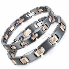 ceramic bracelet fashion images Black white ceramic bracelet magnetic stone therapy health jpg