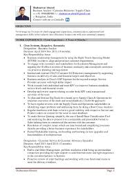Mba Resume Review Resume Of Shahnawaz Ahmed Supply Chain Customer Service Mba