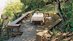 Backyard View Great Deck Ideas Sunset