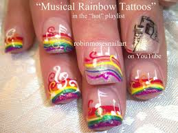 nail art designs rainbow tattoo music note nail art