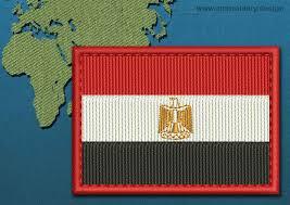 Flag Egypt Egypt Rectangle Flag Embroidery Design With A Colour Coded Border